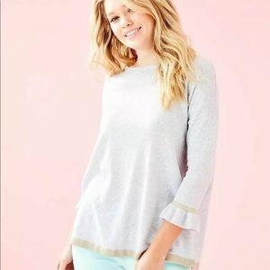Charla Grey Coverup Sweater
